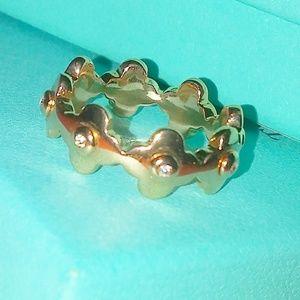 Henri bendel rose gold flower ring